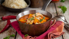 Sweet potato chicken thai red curry recipe