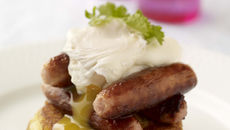 Pork Sausage Boxty with Poached Egg