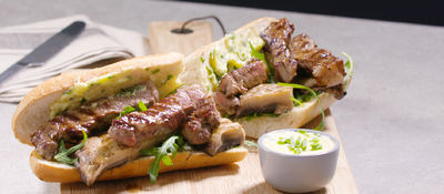 SuperValu Recipe Steak Sandwich