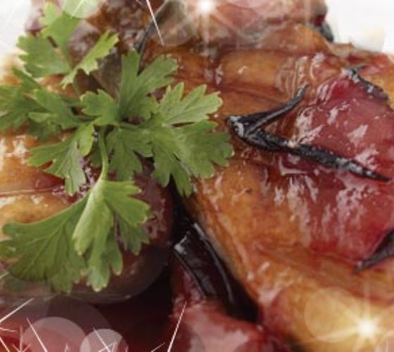 Duck Breast with Sweet & Sour Plum Compote